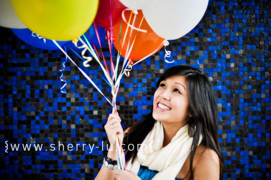 Karra and balloons
